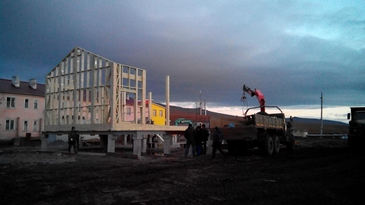 строительство домиков на чукотке в затылке фото кэжуал выбирают